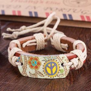 hippie adjustable bangle bracelet